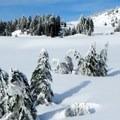 A view of Garfield Peak on the approach.- Garfield Peak Snowshoe