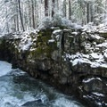 Rogue Gorge in winter.- Rogue Gorge