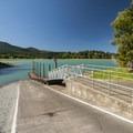 Boat ramp and dock at Alder Lake Park.- Alder Lake Park