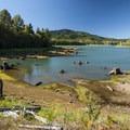 Alder Lake Reservoir.- Alder Lake Park Campground