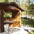Dish cleaning station at Alder Park Main Campground West.- Alder Lake Park Campground