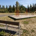Playground at Alder Park Group Camp.- Alder Lake Park Campground
