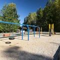 Playground at Alder Lake Elk Plain Campground.- Alder Lake Park Campground