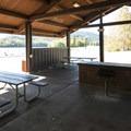 Picnic shelter at Sunny Beach Point.- Alder Lake, Sunny Beach Point