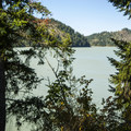 View of Alder Lake Reservoir from Rocky Point Campground.- Alder Lake, Rocky Point Campground