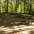 Double campsite at Big Creek Campground.- Big Creek Campground