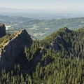 View along the rest of the Sawtooth Ridge toward Alder Lake Reservoir.- High Rock Lookout Tower Hike
