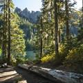 Backcountry campsite at Granite Lake.- Granite, Bertha May + Pothole Lakes