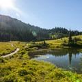 Short trail around Tipsoo Lake.- Tipsoo Lake