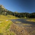 Tipsoo Lake and Yakima Peak (6,226').- Tipsoo Lake