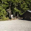 Vault toilet on the east side of Ranger Creek Airstrip.- Buck Creek Campsites at Ranger Creek Airstrip