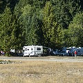 Campers on the east side of Ranger Creek Airstrip.- Buck Creek Campsites at Ranger Creek Airstrip