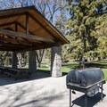 Picnic shelter at Pioneer Park.- Pioneer Park