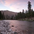 Beautiful sunset in the open expanses of the middle canyon.- Middle Fork of the Salmon River - Overview