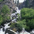 A raging waterfall creek adds even more flow to the Middle Fork in early June.- Middle Fork of the Salmon River - Overview