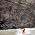 Catching a high water wave on the fly around 7 feet.- Middle Fork of the Salmon River - Overview