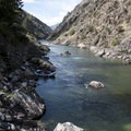 Taking a break on the last day of the trip above House of Rocks Rapid.- Middle Fork of the Salmon River - Overview