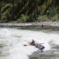 A great surf wave at Marble Creek Rapid around 5 feet.- Middle Fork of the Salmon River - Overview
