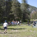 Throwing shoes at Sheepeater Camp.- Middle Fork of the Salmon River - Day 1