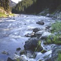 An unnamed creek tumbles into the river at the entrance to Hell's Half Mile.- Middle Fork of the Salmon River - Day 1