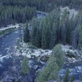 Looking down on to Doer's Rock Rapid (mile 1.8) at low water.- Middle Fork of the Salmon River - Day 1