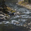 Looking onto Sulphur Slide rapid at low water in October.- Middle Fork of the Salmon River - Day 1