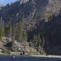 Fires scars in the lead-up to Powerhouse Rapid.- Middle Fork of the Salmon River - Day 1