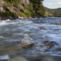 The crisp waters in June rush by camp.- Middle Fork of the Salmon River - Day 1