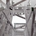 The stairs are beautifully covered in rime ice.- Warner Mountain Lookout Tower