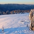 The views from the deck are marvelous on a clear morning.- Warner Mountain Lookout Tower