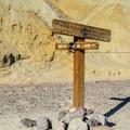 Golden Canyon, Gower Gulch Loop, and Zabriskie Point Trail junction.- Gower Gulch Loop