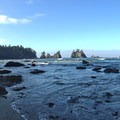 Southern view from a cove at Point of the Arches.- Point of the Arches via Shi Shi Beach