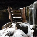 Entrance stairs and cave opening.- Guler Ice Caves
