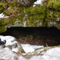 One of the cave's entrances.- Guler Ice Caves