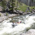 Taking a hit in Pistol Creek at more than 5 feet.- Middle Fork of the Salmon River - Day 2