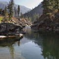 The tranquil pools below Pistol Creek Rapid.- Middle Fork of the Salmon River - Day 2