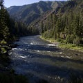A view down Pungo Canyon from just below Pungo Rapid.- Middle Fork of the Salmon River - Day 2