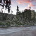 Sunset over Soldier Creek Rapid.- Middle Fork of the Salmon River - Day 3