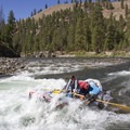 Hitting the wave in Marble Creek around 3 feet.- Middle Fork of the Salmon River - Day 3