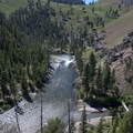 Looking onto the Marble Creek and Marble Creek Rapid.- Middle Fork of the Salmon River - Day 3