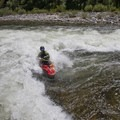 Surfing Marble Creek around 4 feet of water.- Middle Fork of the Salmon River - Day 3