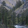 The turn coming out of the base of Ski Jump Rapid.- Middle Fork of the Salmon River - Day 3