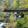 Staton Road Bridge over the Little River at the beginning of the hike.- Triple Falls