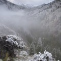A mid-June storm leaves a light dusting of snow in the canyon.- Middle Fork of the Salmon River - Day 3