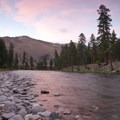 Beautiful sunset in the open expanses of the middle canyon.- Middle Fork of the Salmon River - Day 3
