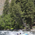The hole in Jackass surfs an unwitting 16-foot raft for a good minute.- Middle Fork of the Salmon River - Day 3