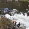 Watching a boat line up for Tappan Falls around 2 feet.- Middle Fork of the Salmon River - Day 4