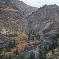 Looking downstream into Aparajo Canyon.- Middle Fork of the Salmon River - Day 4