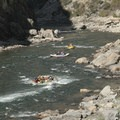 A near miss on Earthquake Rock.- Middle Fork of the Salmon River - Day 4