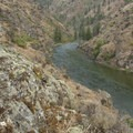 Coming out of the Grouse Necks.- Middle Fork of the Salmon River - Day 4